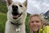 """Chú chó Husky """"anh hùng"""" cứu mạng cô gái bị ngã xuống núi"""