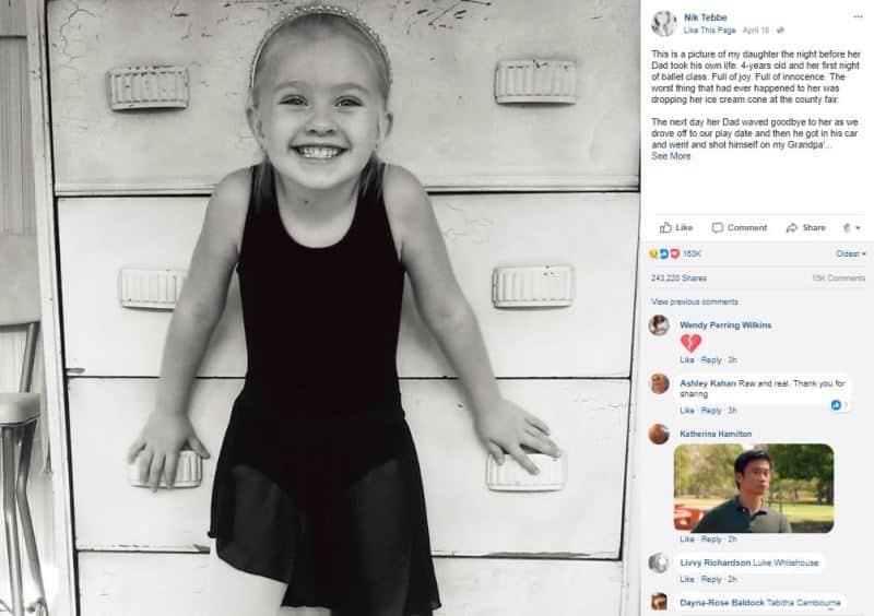 Con gái hỏi mẹ vì sao bố tự tử