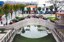Cây cầu in 3D dài nhất thế giới được hoàn thành trong 18 ngày