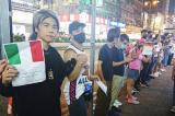 """210.000 người biểu tình cùng tạo thành """"Con đường Hồng Kông"""" tối ngày 23/8"""