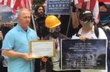 """Người biểu tình kêu gọi Lãnh sự quán Mỹ """"Hãy cứu Hồng Kông"""""""