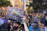 Người Hồng Kông tổ chức mít tinh Cầu viện quốc tế ngày 2/11