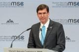Bộ trưởng Quốc phòng Mỹ: Thế giới hãy 'thức tỉnh' trước mối đe dọa Trung Quốc
