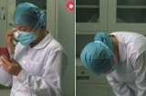 Xúc động hình ảnh nữ y tá Vũ Hán nén đau buồn nghe tin mẹ qua đời