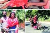 Cô bé 15 tuổi chở bố bị thương về nhà bằng xe đạp suốt 7 ngày